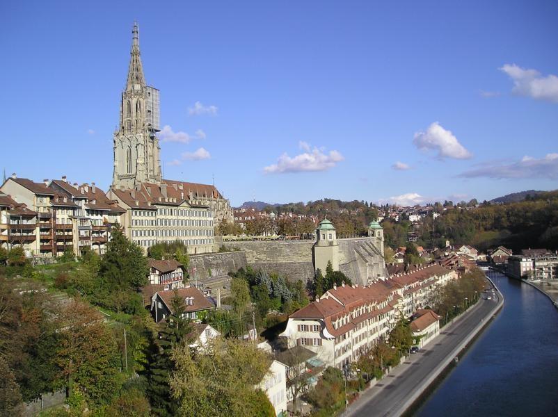katedrála hlavního města - Bern tzv. město medvědů - Švýcarsko