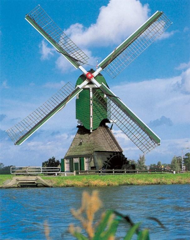 skanzen větrných mlýnů - Zaanse Schans - Holandsko