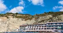 pohled na hotel od moře - hotel Vittorio - termální ostrov Ischia - Itálie