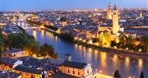 večerní procházka městem - nádherná noční Verona - Itálie